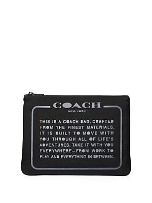 61df808e23 COACH - Story Patch Pouch - saks.com