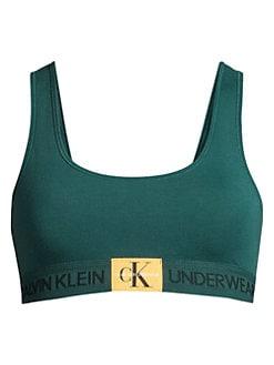 5b0bd79447582 Calvin Klein. Monogram Unlined Bralette
