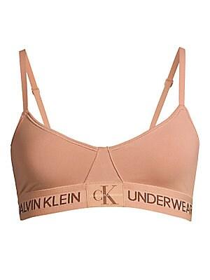 719bd5079b Calvin Klein - Monogram Unlined Triangle Bralette - saks.com