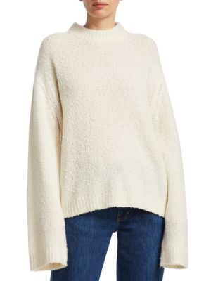 Eizabeth And James Josette Oversized Boucã© Sweater Ivory, Alabaster