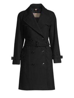 Cranston Belted Double Breasted Coat by Burberry