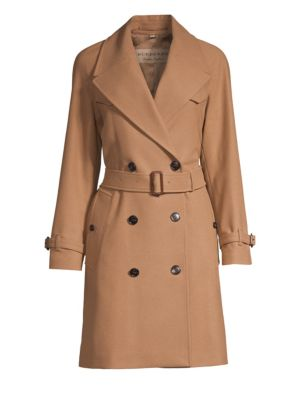 Cranston Belted Wool Blend Trench by Burberry