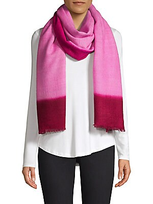 """Image of Simple sheer scarf crafted of lightweight cashmere. Cashmere Dry clean Imported SIZE 36""""W x 90""""L. Soft Accessorie - Day And Evening Wraps > Saks Fifth Avenue. Bajra. Color: Lilac Red."""