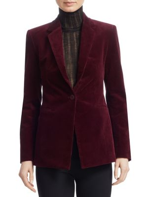 One Button Corduroy Blazer by Theory
