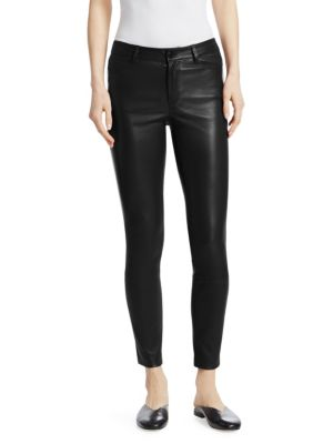 Bristol Leather Five Pocket Pants by Theory