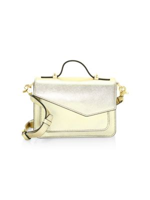 Mini Cobble Hill Calfskin Leather Crossbody Bag - Yellow, Gold