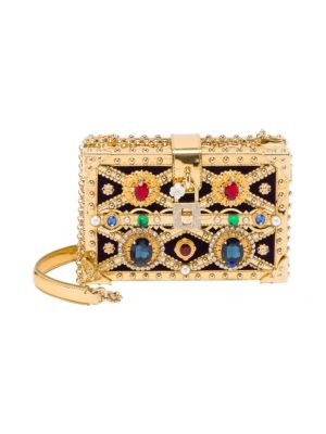Embellished Convertible Clutch, Gold