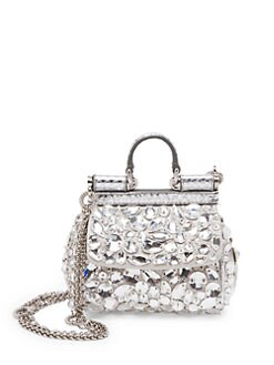 QUICK VIEW. Dolce   Gabbana. Mini Crystal Crossbody Bag 86d0f1134ec3c