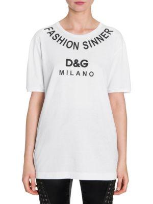 Dg Logo Cotton T Shirt by Dolce & Gabbana