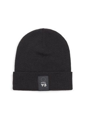 Y-3 Black Y-3 Logo Beanie