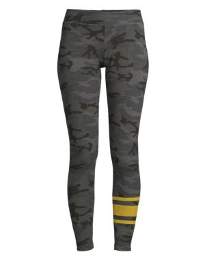 Camo Print Skinny Yoga Pants, Night