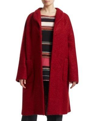 Marina Rinaldi, Plus Size Boucle Wool Cocoon Coat