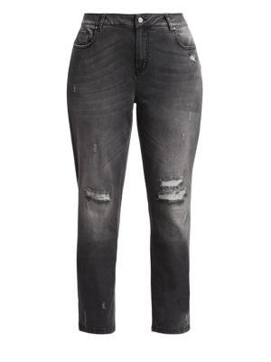 Marina Rinaldi Plus Size Distress Skinny Jeans