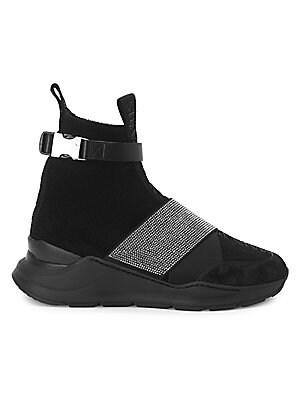771c935ddd6 Balenciaga. Speed Sneakers.  780.00 · Balmain - Rhinestone High-Top Sneakers