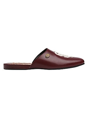 d1f13ec777cf Gucci - Leather Slippers With SF Giants™ Patch