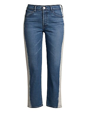 "Image of A refreshing, crisp wash instantly elevates the beloved skinny jean, finished in an ankle-skimming length for a modern touch. Belt loops Button closure with zip fly Five-pocket style Rise, about 10"" Inseam, about 27"" Cotton/polyurethane Machine wash Made"