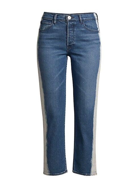 """Image of A refreshing, crisp wash instantly elevates the beloved skinny jean, finished in an ankle-skimming length for a modern touch. .Belt loops. Button closure with zip fly. Five-pocket style. Rise, about 10"""".Inseam, about 27"""".Cotton/polyurethane. Machine wash."""