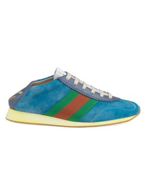 Suede Web Sneakers by Gucci