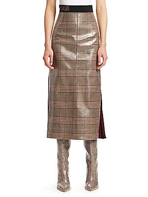 fa3802cc42ea Fendi - Glazed Check Midi Skirt - saks.com