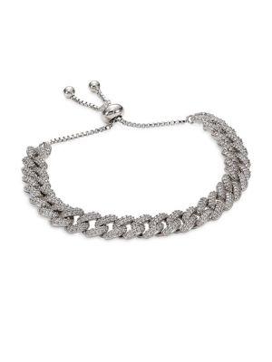 Fallon Bracelets Armure Crystal Curb Chain Toggle Bracelet