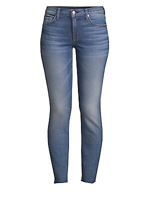 6a56ae05ab 7 For All Mankind - Ankle Skinny Jeans With Eye Patchwork - saks.com