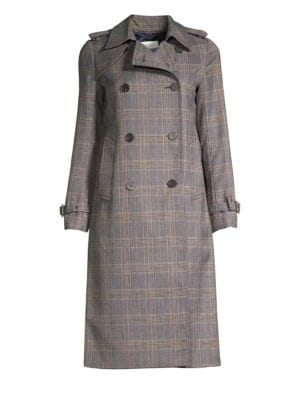 Roselier Plaid Trench Coat by Sandro