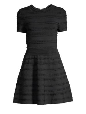 The Kooples Horizonal Scallop A-Line Knit Dress