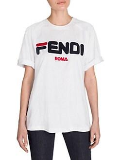 4fdd51fc Fendi Mania Logo Tee WHITE. QUICK VIEW. Product image