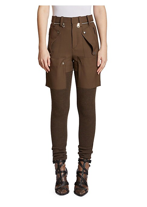 Image of All eyes are on the new Chloe now that designer Natacha Ramsay-Levi is in the driver's seat, busy moving the clothes away from the festivals and into the everyday. These trompe d'oeil pants stitch together a cargo short with a ribbed stocking, making a un
