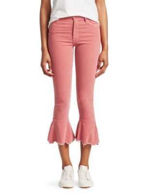The Cha Cha Chew Distressed Corduroy Jeans, Pink