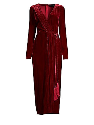 022629002ce Rachel Zoe - Aly Velvet Wrap Dress - saks.com