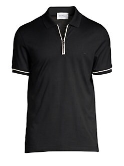 e0622bb9 QUICK VIEW. Salvatore Ferragamo. Zip Basic Cotton Polo