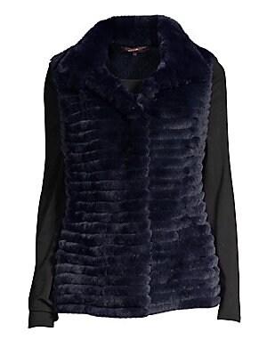 ae0a1360ab2c49 Glamourpuss - Rabbit Fur & Cashmere Knit Vest