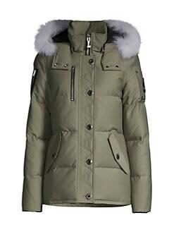 Moose Knuckles. Fox Fur-Trim Quilted Jacket af406c09a