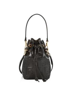 Mini Mon Tresor Leather Bucket Bag by Fendi