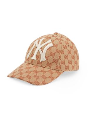 Baseball Hat With Ny Yankees™ Patch, Red Multi