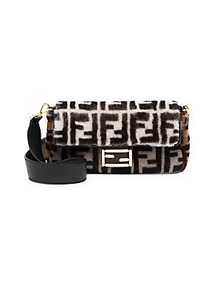 Fendi - FF Shearling Baguette Shoulder Bag - saks.com e6df59bb7fa08