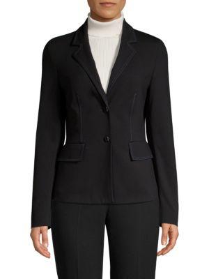 ESCADA SPORT Jersey Stitch Blazer in Black