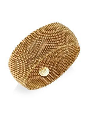 Gas Bijoux 24k Goldplated Chain Cuff Bracelet