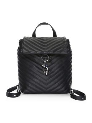 Edie Flap Quilted Leather Backpack by Rebecca Minkoff