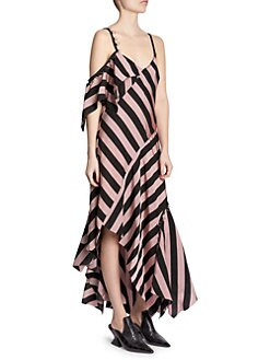 e0ec982ffde4 Marques Almeida. Asymmetrical Striped Midi Dress