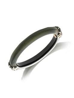 efa28dc1e778 Alexis Bittar. Brutalist Butterfly Crystal Capped Hinge Bracelet
