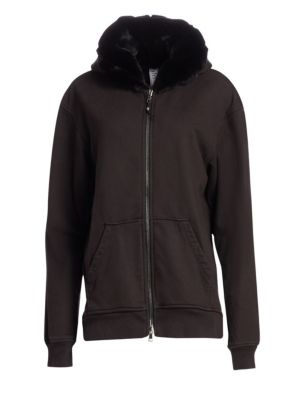 Alchemist Perfect Rabbit Fur Trimmed Hoodie