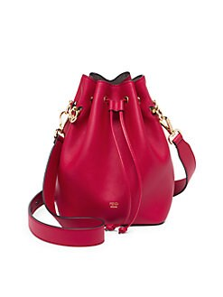 b762df0c47 Fendi. Mon Tresor Leather Bucket Bag