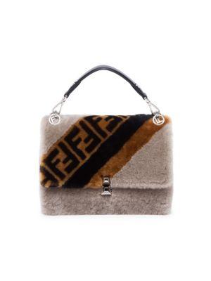 Kan I Sheepskin Top Handle Bag by Fendi