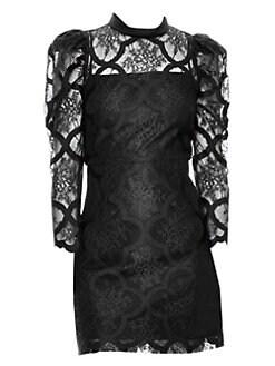 2e22f68c71c Product image. QUICK VIEW. Sandro. Puff Sleeve Lace Mini Dress
