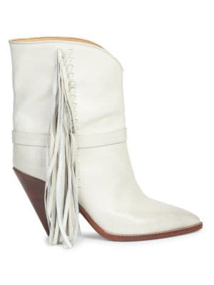 Loffen Leather Mid-Calf Boots, Chalk