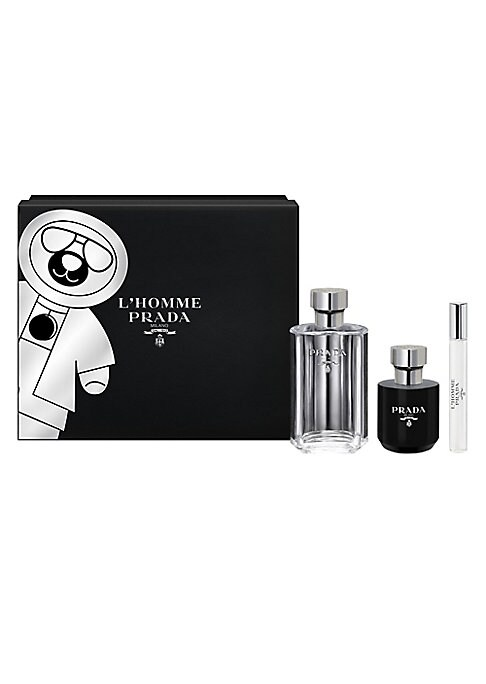 Image of WHAT IT IS. For the Holidays, discover Prada Parfums' masculine quintessential fragrance. L'Homme Prada is a fragrance of pairs, of doubles, of juxtapositions and layers. It is a mix that is both airy and highly sensual. This elegant black limited-edition