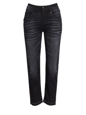 R13 Straight Leg Boyfriend Jeans