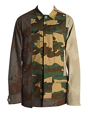 c2770a15569eb Off-White - Reconstructed Cotton Camo Field Jacket - saks.com